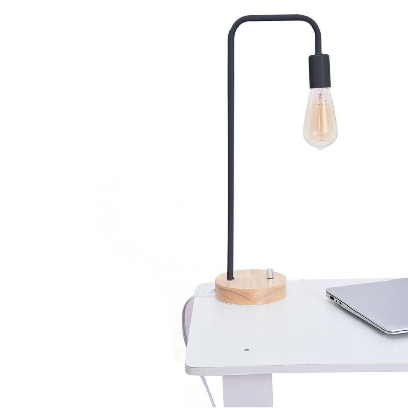 HAITRAL Lamp Wooden Industrial Table Office, Living
