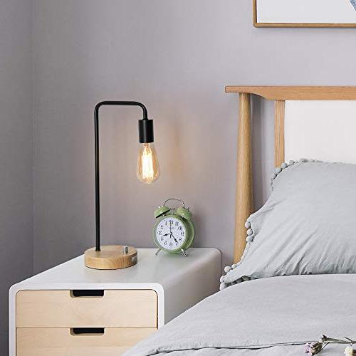HAITRAL Desk Industrial Table Lamp Office, Bedroom,