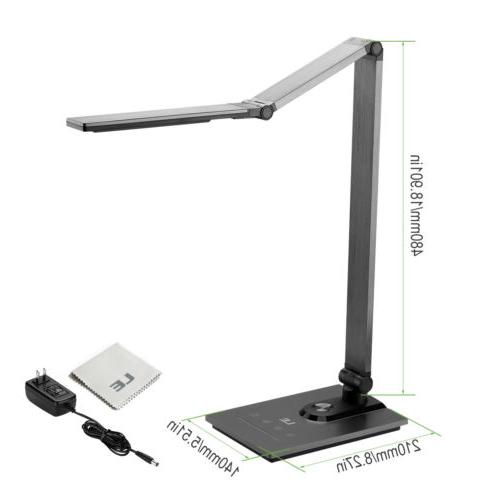 Dimmable Desk Lamp, LED Metal Table Lamp Output 5V/2A Port