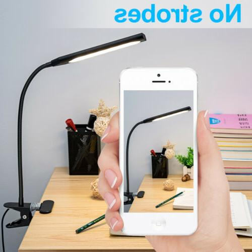Headboard GLORIOUS-LITE 5W LED Clip on Light//Reading Light//Bed Light Silver 2-Level Brightness /& 2 Color,Eye-Caring Clip on Lamp for Makeup Mirror,Desk Dorm Room,Computer and Piano Bedside