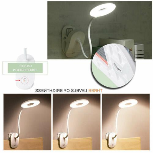 dimmable led clip on desk lamp book