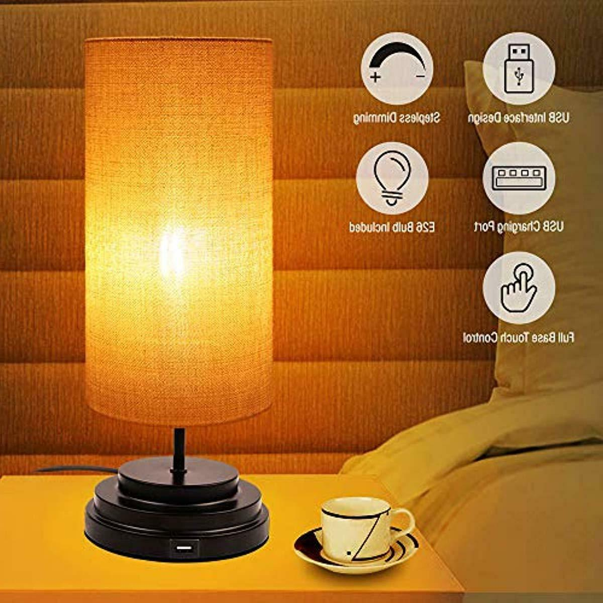 USB Touch Control Table Lamp Bedside Lamp