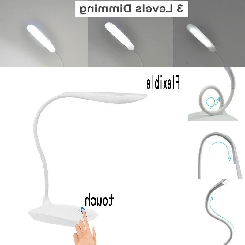 Flexible Dimmable <font><b>Desk</b></font> 1.5W Charging LEDs Dimming for Eye Protect Reading