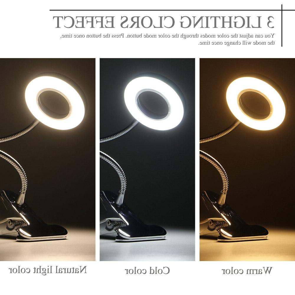 Flexible Makeup Equipment LED Clip Night Light Eye Protection Office