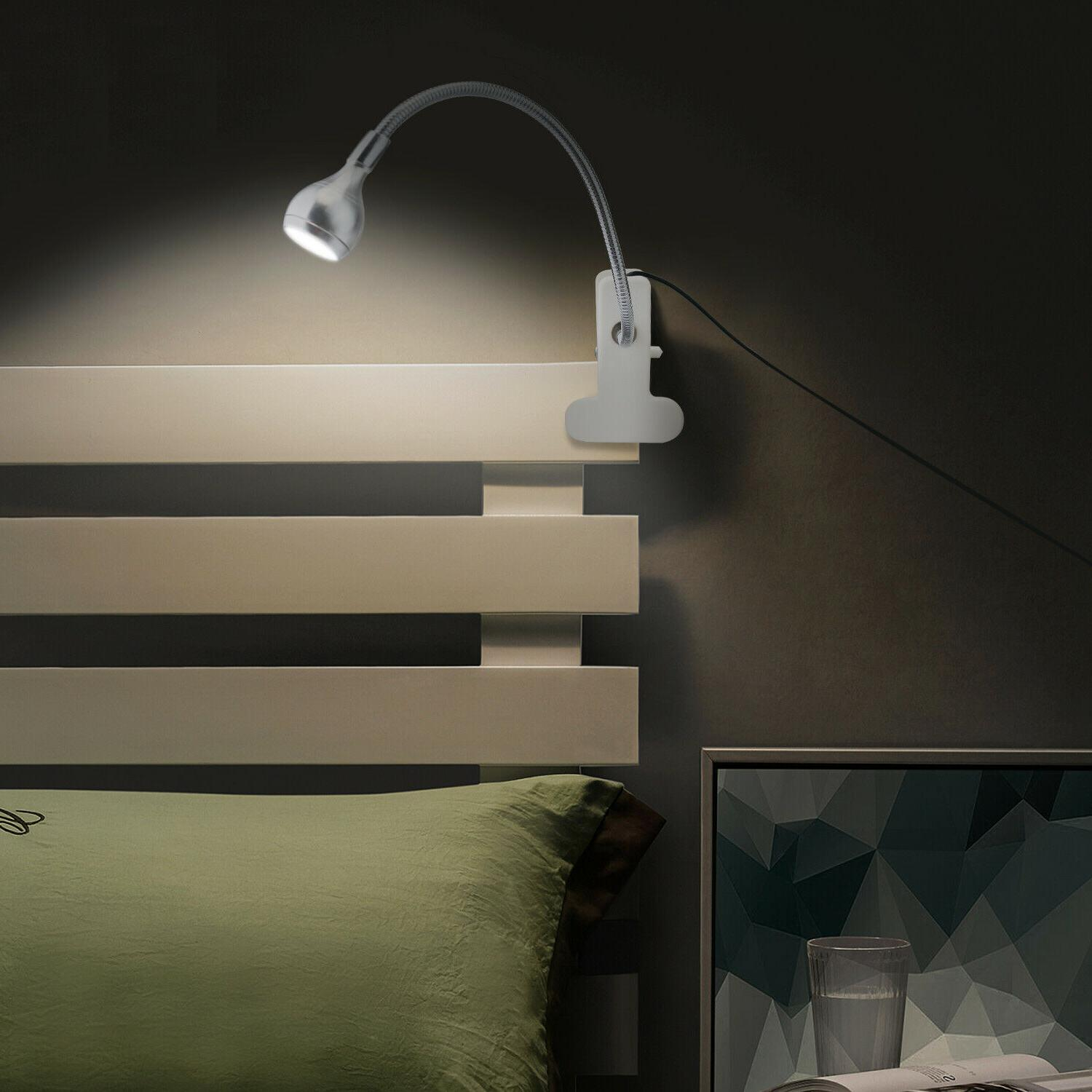 Flexible Clip LED Lamp Clamp Reading Light Headboard Study