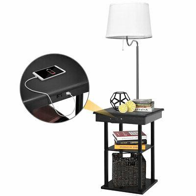 floor lamp end table modern bedside nighstand