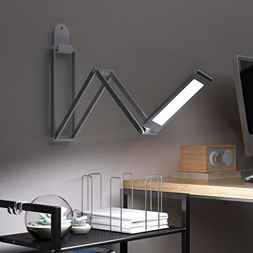 Foldable LED Lamp, SLYPNOS Rechargeable Portable Dimmable Lamp Bedroom Aluminum Alloy Studying