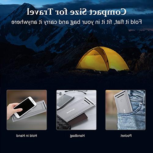 Foldable Desk SLYPNOS USB Rechargeable Portable Dimmable Aluminum Studying Camping Office