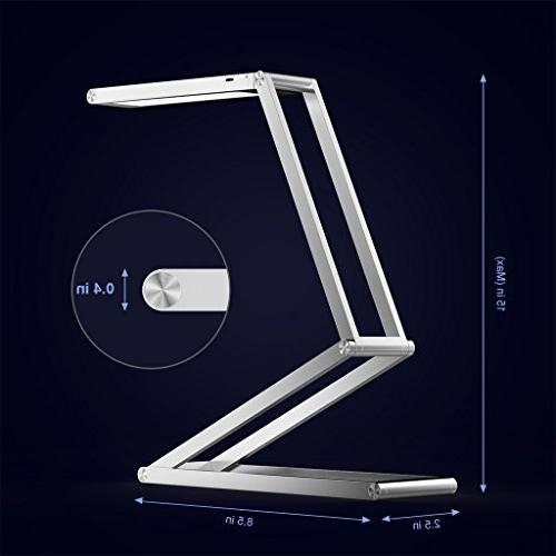 Foldable SLYPNOS Dimmable Lamp Aluminum Studying Working Home Office