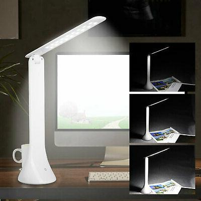 foldable rechargeable touch 18led desk lamp table