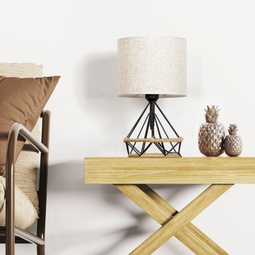 HAITRAL Bedside Table Minimalist Basket Cage Style