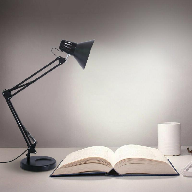 LE Swing Arm Desk Lamp C-Clamp Table Light Architect Draftin