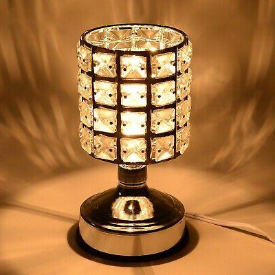 Home Table Decor Touch Dimmer Glass Shape Desk Table Lamp