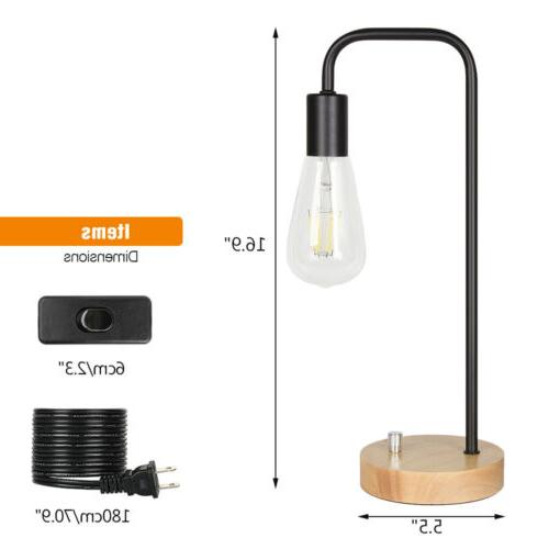 HAITRAL Desk Lamps Imitation Wood for Home