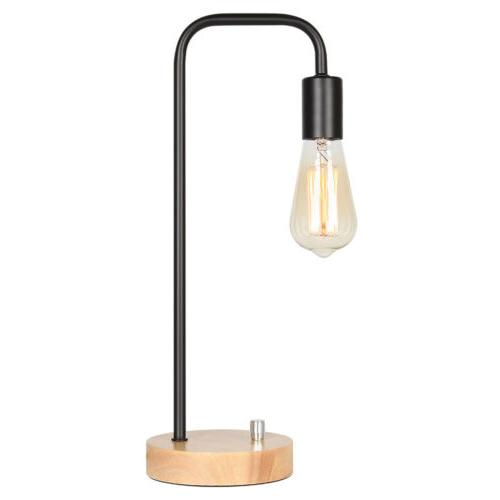 HAITRAL Wood Metal Lamp for Home