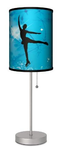 Sports - Ice Skating Blue Sport Silver Lamp