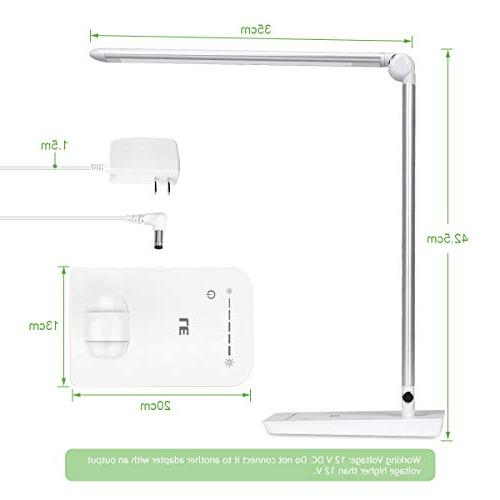 LE Dimmable LED Desk Lamp, Brightness Adjustable, Soft Touch Dimmer, Eye Care High intensity Office Lamp Reading, Computer Work