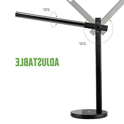Lamp USB 5V 2A 0.5 Hour Sensor, Adjustable Touch Office Lamp for Study, Work