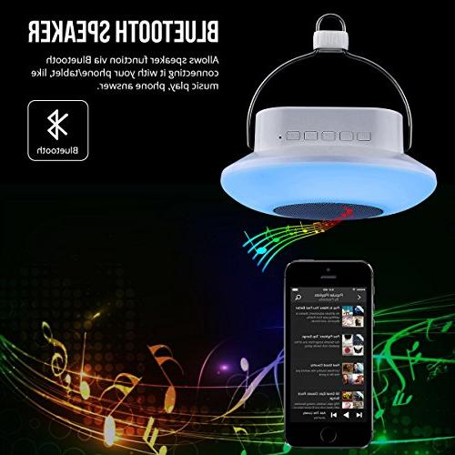 LE Lantern, Musical Bluetooth Changing, Dimmable, Bedside for Outdoor More