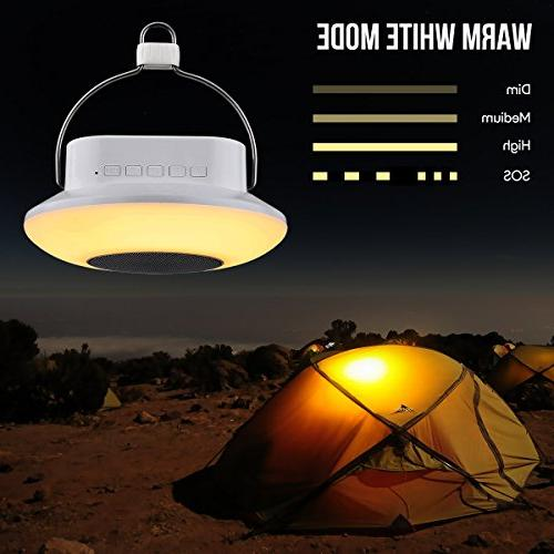 LE Portable LED Camping Lantern, Night Musical Changing, Dimmable, Bedside Light for Outdoor More