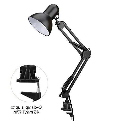 LE Swing Lamp, Standing Articulating Multi-Joint, Architect Lamp for Study, Work and More