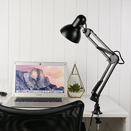 LE Swing Lamp, Clamp Standing Adjustable Articulating Lamp Study, Office and More