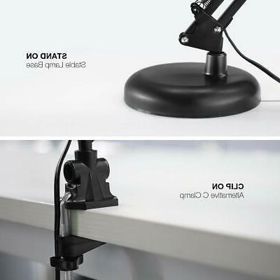 LE Swing Arm Lamp, Clamp/Standing Table Lamp, Adjustable