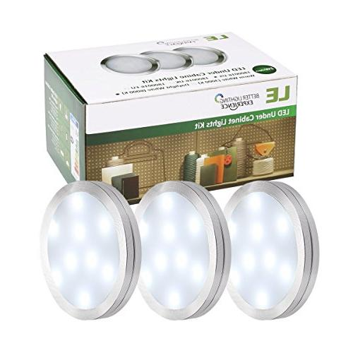 LE LED Kitchen Cabinet Kit, 510 Lumens, 5000K Daylight White, Perfect for Kitchen, Stairs More, of 3