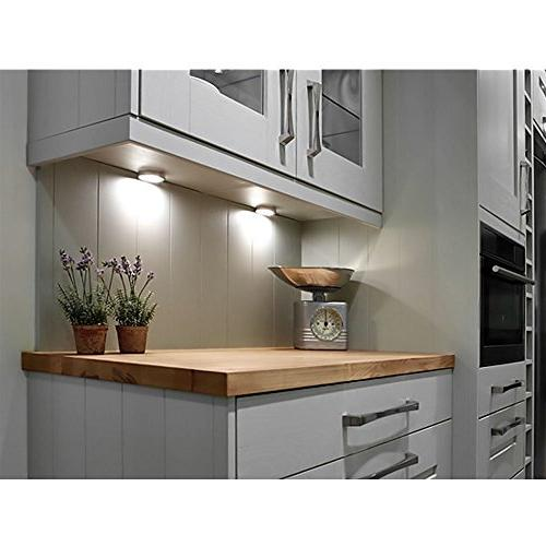 LE Puck Kitchen Cabinet Lighting Kit, 5000K Daylight Night Perfect for Kitchen, Stairs and of