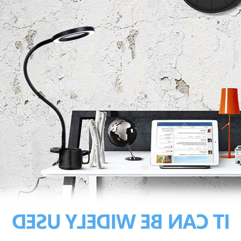 LED Clip-On USB Desk Table Book LED Dimmable Light