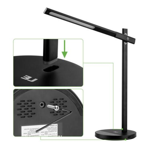 LED Eye-caring Table Lamp, Dimmable Lamp with USB Charging Port