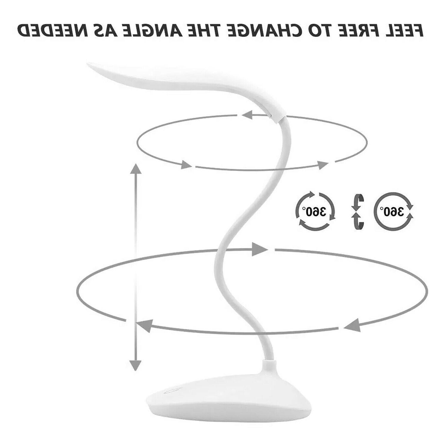 LED Lamp Table Light With Home Office Study Reading Dimmable