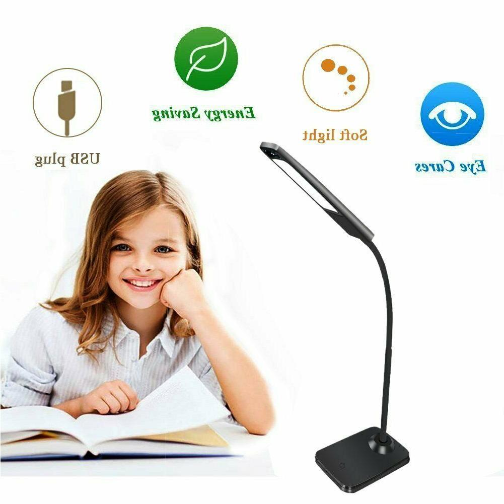 LED Desk Lamp, Control Table with Charging Port