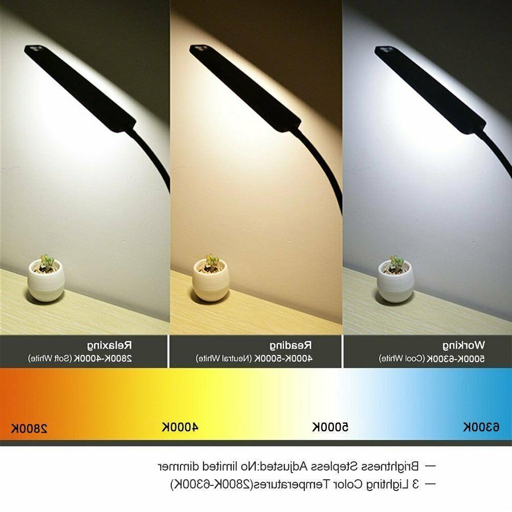 LED Desk Lamp, Control Eye-caring Table with Charging Port