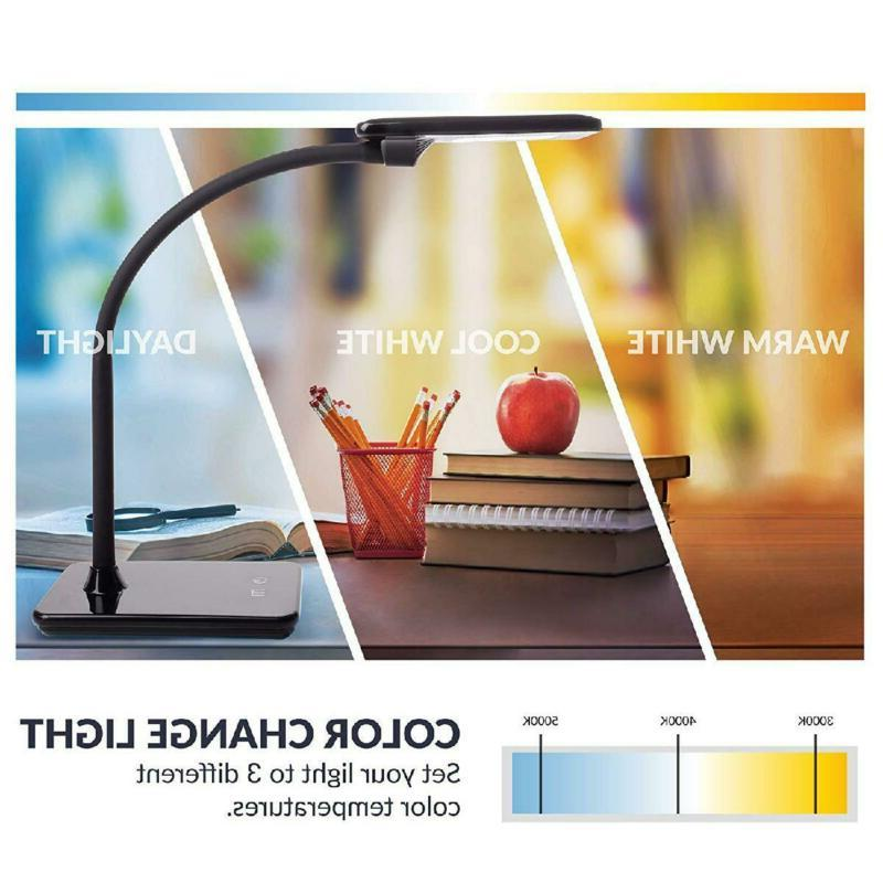 LED Desk Lamp with Dimming, Color Change White