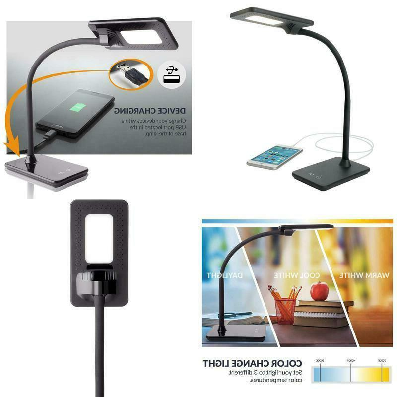 led full feature desk lamp with dimming