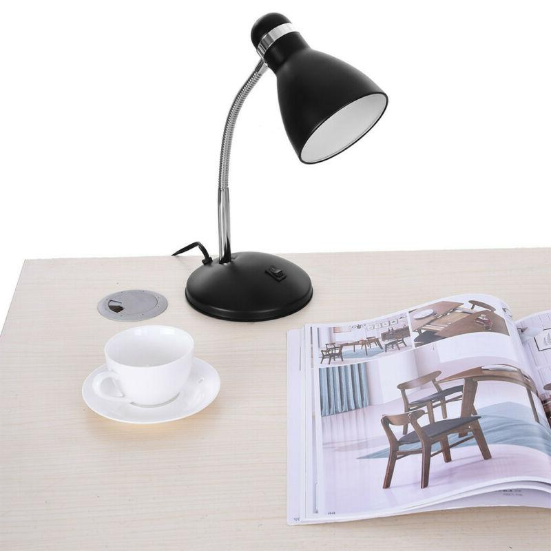 led metal desk lamp adjustable neck table