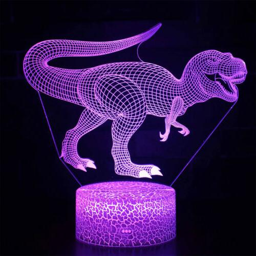 LED Dinosaur Desk Color Change Decor US