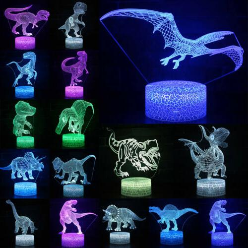 LED Light 3D Desk Lamp Color Decor
