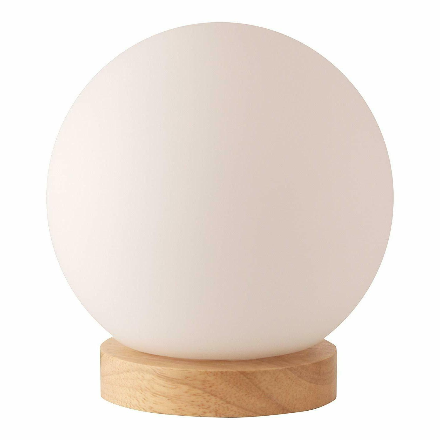 light accents iris table lamp natural wooden