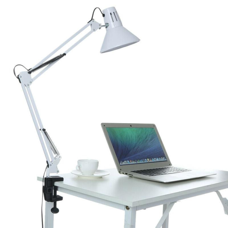 Clamp-on Desk Lamps LE Swing Arm Desk Lamp C-Clamp Table Cla