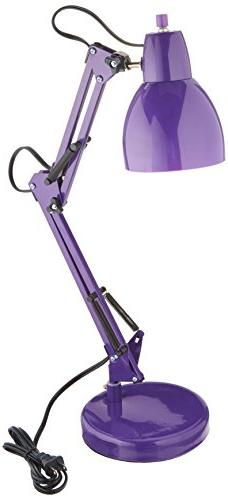 Lite Source LS-22110PURP Desk Lamp with Purple Acrylic Shade