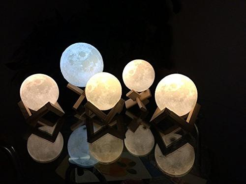 ACED Printing Moon Lamp Night Light, Changing, Battery LED for Bedrooms, Day Cool Christmas for Kid