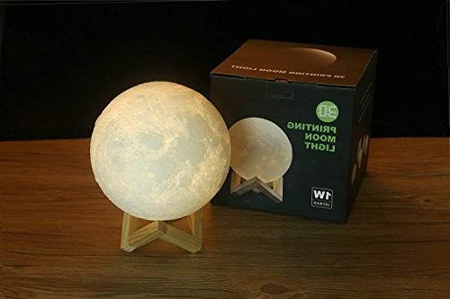 ACED 4.7Inch Moon Light Night Changing, Battery Operated LED Moonlight for Bedrooms, Cool for Kid Teens