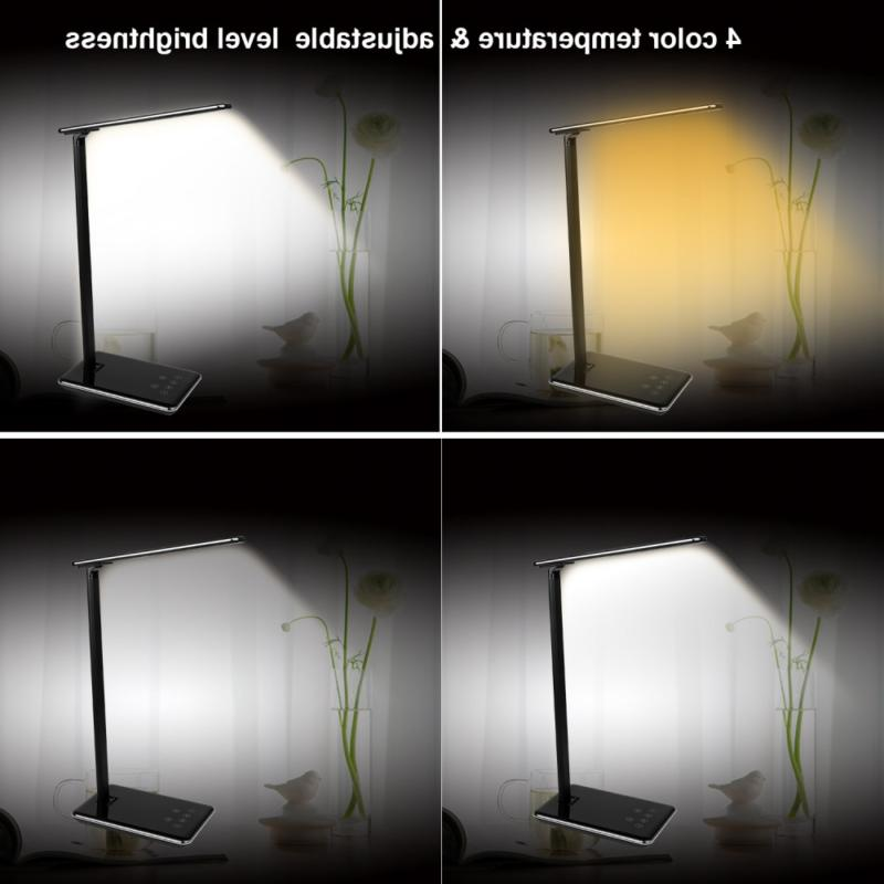 MACASA Led Desk Lamp 5W Dimmable with USB Temperatur