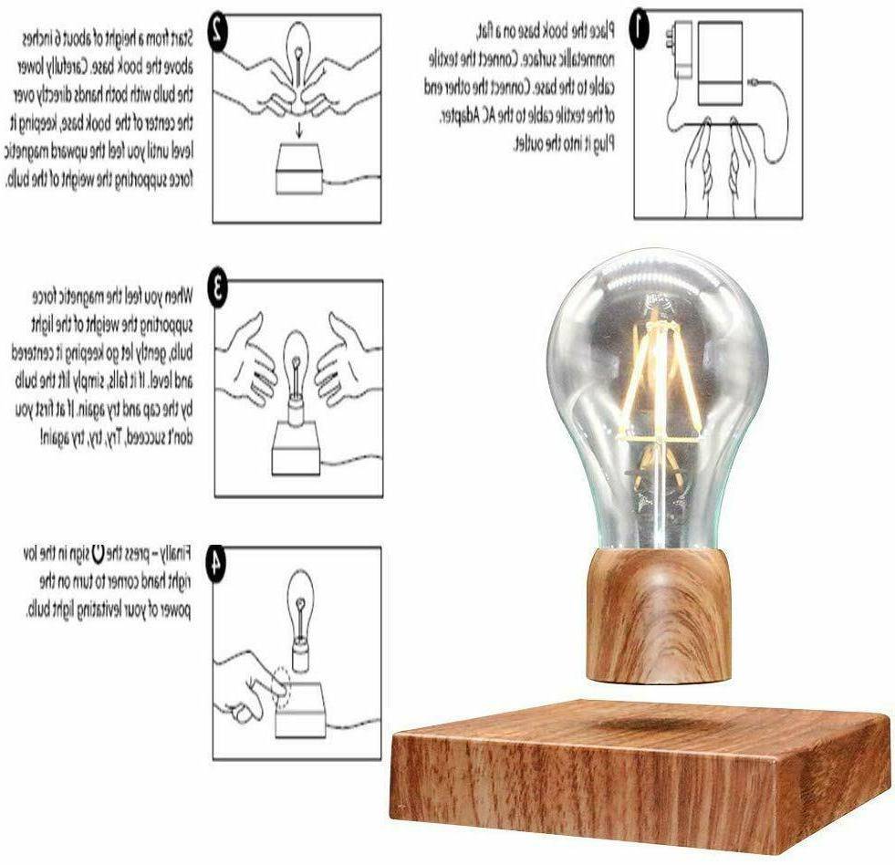 Magnetic Levitating Floating Wireless LED Light Bulb Lamp for Gifts,