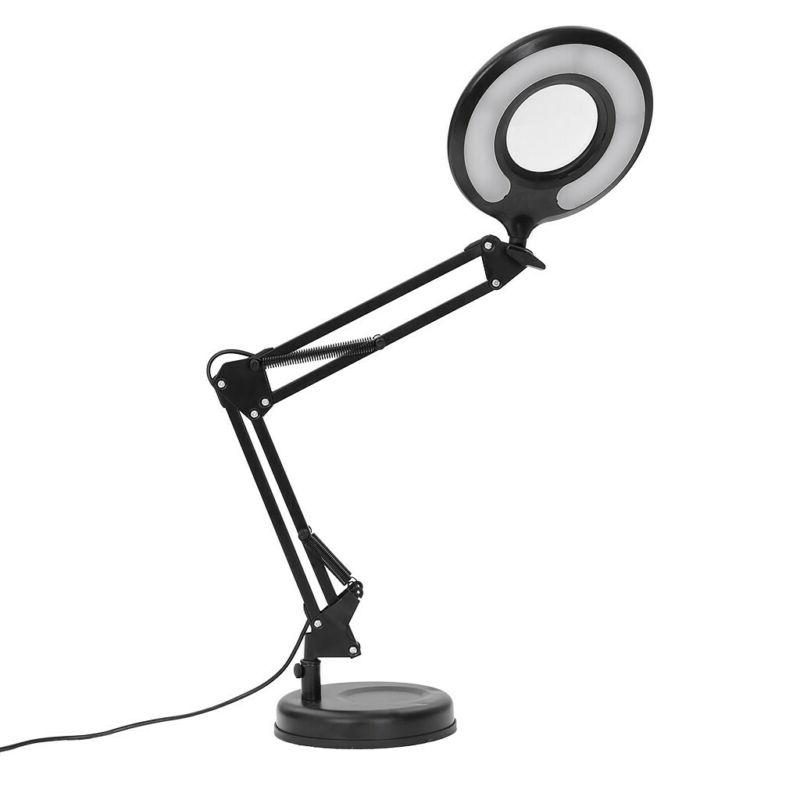 Task Desk Lamp with Magnifier Desktop Clamp-On Dual Mounting