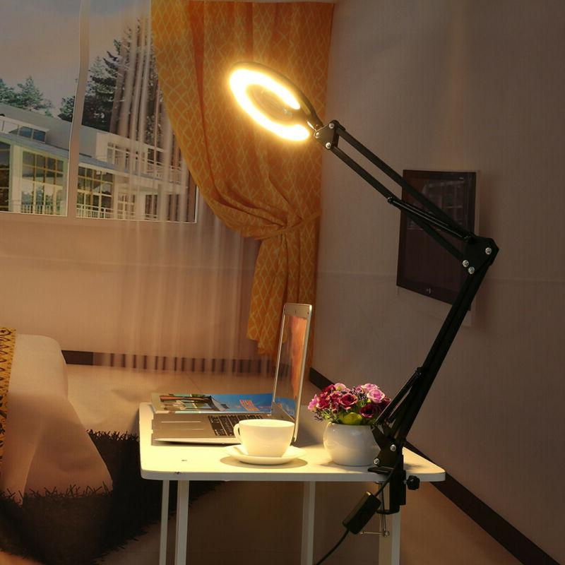 LE Swing Arm Lamp Table Architect Clamp-on Desk Light
