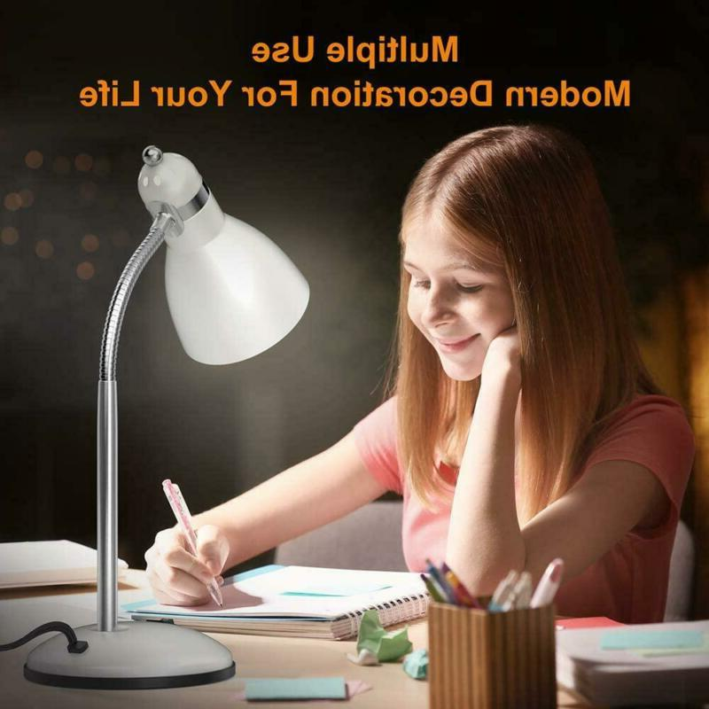 Lepower Metal Desk Lamp, Adjustable Goose Table Lamp, Eye-Caring Study