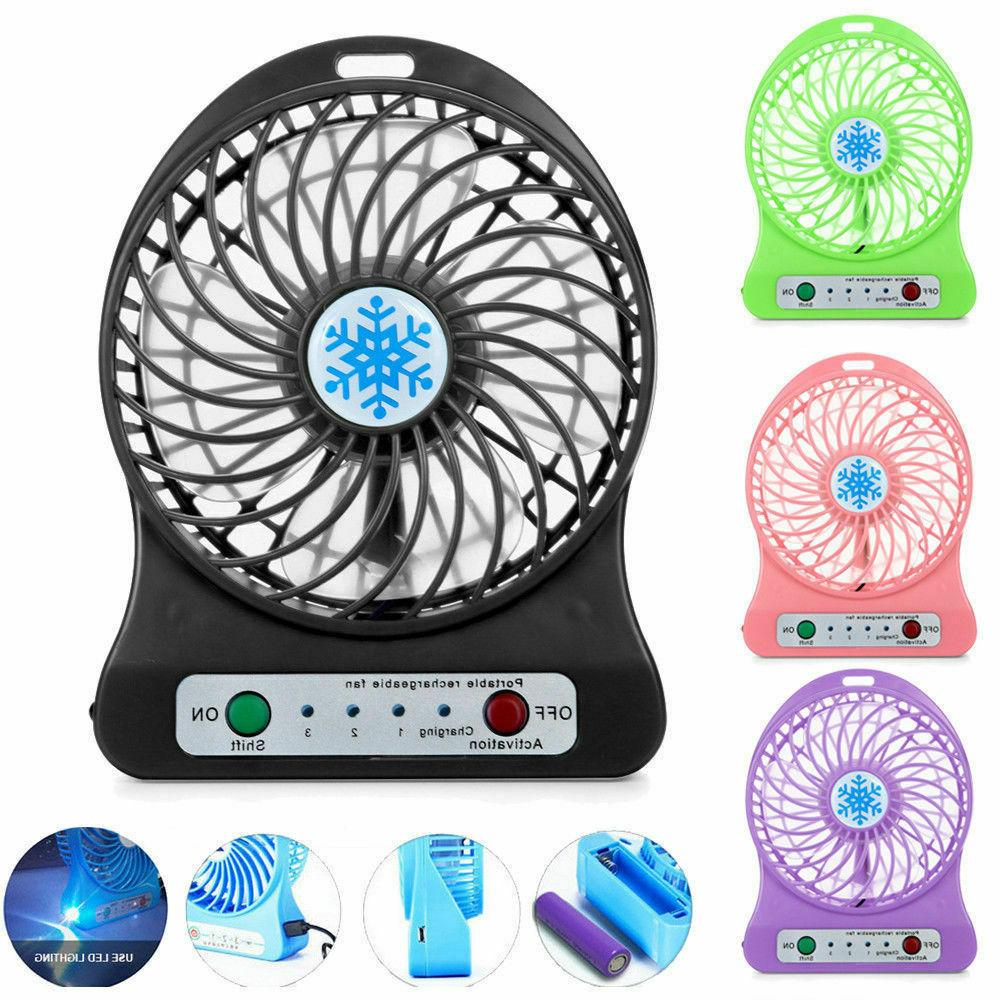 mini portable fan handheld rechargeable usb cooling
